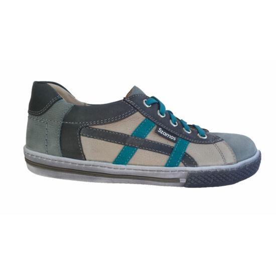 Szamos  fiú tavaszi cipő, szürke-kék