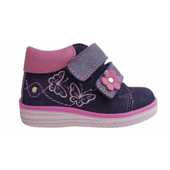 Szamos magas szárú kislány cipő, pillangós